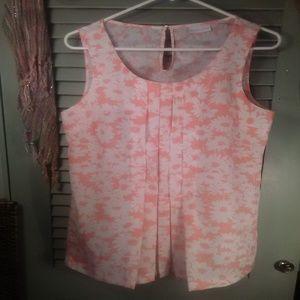 *4/$20* New York & Co. daisy print tank top sz M